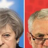 Den 68-årige Jeremy Corbyn, der leder det britiske Labour, har op til valget friseret skægget og købt sig et mere tidssvarende jakkesæt. Fra at ligge over 20 procentpoint efter den konservative premierminister, Theresa May, viser nogle målinger nu, at det kun tre procentpoint, som skiller de to partier. Scanpix/Andy Buchanan, Jack Hill