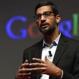 Sundai Pichai, som hidtil har stået i spidsen for bl.a. Googles mobilstyresystem Android, bliver ny topchef i den fortsættende Google-division, efter at internetgiganten nu splittes op og får nyt moderselskab, Alphabet. Arkivfoto: Lluis Llene, AFP/Scanpix