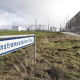 Marken ved Viborg, som Apple investerer 6,3 milliarder kroner i, Her ligger Jævnstrømsstation Tjele, transformatorstationen, som skal levere strøm til det nye datacenter. FOTO: Henning Bagger/Scanpix