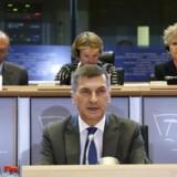 Den kommende superkommissær for EUs indre, digitale marked, den tidligere estiske premierminister Andrus Ansip, er også indstillet på at suspendere en dataudvekslingsaftale med USA, hvis ikke amerikanerne strammer voldsomt op. Her udspørges han mandag af Europaparlamentet, som skal godkende den nye kommission, der tiltræder 1. november. Foto: François Lenoir, Reuters/Scanpix