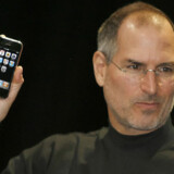 Apple-stifter Steve Jobs under præsentationen af iPhone i 2007.