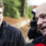 Forhandlinger om en trekløver regering på Marienborg d. 23. november 2016. Brian Mikkelsen (tv.) og Søren Pape Poulsen fra Konservative. (Foto: Ólafur Steinar Gestsson/Scanpix 2016)