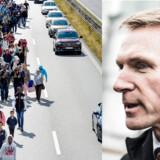 Det er langt fra tilfredsstillende, at flygtninge kan bevæge sig gennem Danmark uden at blive registreret, mener DFs formand, der kræver grænsekontrol nu.
