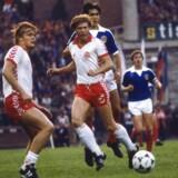 Landskamp, Danmark. Søren Lerby og Per Røntved (th). (Udateret arkivbillede fra sidst i 1970' erne).