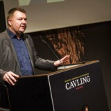 Arkivfoto: Tom Jensen ved den seneste uddeling af Cavling-prisen.