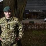 Kompagnichef i Hjemmeværnet Troels Graff foran Krudttønden i København.