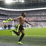 """Britain Football Soccer - Reading v Huddersfield Town - Sky Bet Championship Play-Off Final - Wembley Stadium, London, England - 29/5/17 Huddersfield Town's Kasey Palmer celebrates after winning the penalty shootout and getting promoted to the Premier League Action Images via Reuters / Matthew Childs Livepic EDITORIAL USE ONLY.No use with unauthorized audio, video, data, fixture lists, club/league logos or """"live"""" services. Online in-match use limited to 45 images, no video emulation.No use in betting, games or single club/league/player publications. Please contact your account representative for further details."""
