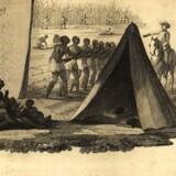 Ældre tegning af slaveri. Arkivfoto: Scanpix