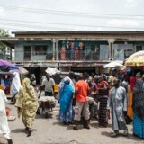 Marked i Maiduguri, Nigeria. Arkivfoto.