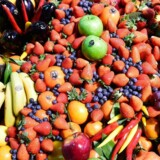"""(FILES) This file photo taken on February 8, 2017 shows fruit and vegetables during the opening day of the """"Fruit Logistica"""" trade fair in Berlin on February 8, 2017."""