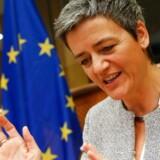 EUs konkurrencekommissær, Margrethe Vestager, har godkendt en telefusion i Spanien på visse betingelser - et signal til den forestående Telia-/Telenor-fusion i Danmark. Arkivfoto: Julien Warnand, EPA/Scanpix