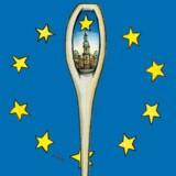 Ganske få direktiver fra EU når hele vejen til Folketinget, istedet implementeres de direkte via ministerierne. Tegning: Kamilla Wichmann