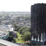 Højhuset Grenfell Tower udbrændte i løbet af kort tid, mens briterne først så småt er ved at forstå omfanget af den uhyggelige tragedie. Foto: Tolga Akmen/AFP