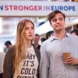 Vejret holdes i »remain«-lejren, der lige nu er bagud i afstemningen om, hvorvidt Storbritannien skal blive eller forlade EU-samarbejdet. / AFP PHOTO / POOL / ROB STOTHARD