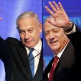 Nuværende præsident for Israel, Benjamin Netanyahu, og leder af partiet Blå og Hvid, Benny Gantz.