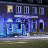 Et pizzaria er eksploderet i Vanløse tidlig onsdag morgen den 18. september 2019. Intet tyder på, at der er tilskadekomne, oplyser politiet.