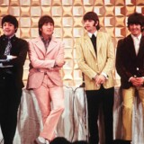 This photo taken on June 29, 1966 shows members of the British band The Beatles, (L to R) Paul McCartney, John Lennon, Ringo Starr and George Harrison, holding a press conference in Tokyo at the start of their tour. - A group of Japanese Beatles fans on October 30, 2018 have lost their bid to get police to hand over historic footage of the band's legendary 1966 Japan visit. (Photo by JIJI PRESS / JIJI PRESS / AFP) / Japan OUT