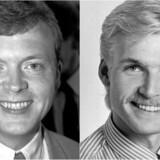 »En ledertype og et lyst hoved,« lød det fra Bertel Haarder, da Pollitiken i 1994 bad ham om at levere en karakteristik af den unge Lars Løkke Rasmussen (til venstre), som netop var kommet i Folketinget. Det samme var Kristian Thulesen Dahl (til højre).
