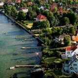 Af de ti kommuner, hvor beboerne har de største gennemsnitformuer, ligger de otte nord for København.