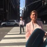 Camilla Sylvest, der er koncerndirektør for Novo Nordisks kommercielle strategi, havde medbragt en ganske særlig stol til FNs klimatopmøde i New York.