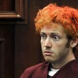 I 2012 blev James Holm (billedet) efter tre års retssag dømt til livstidsstraf plus 3318 års fængsel for drabet på tolv mennesker i en biograf i Colorado. Nu frygter pårørende til ofrene at en ny film om Joker-karakteren vil inspirere til nye masseskyderier. AFP PHOTO / FILES / POOL /RJ SANGOSTI