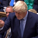 Premierminister Boris Johnson var onsdag tilbage i parlamentet for at forsvare brexit. Den britiske højesteret afgjorde tirsdag, at det var ulovligt, da han tidligere på måneden suspenderede parlamentet i fem uger. Ho/Ritzau Scanpix