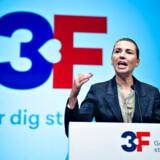 Statsminister Mette Frederiksen taler til 3F's kongres i Aalborg Kongres og Kulturcenter, torsdag den 26. september 2019.. (Foto: Henning Bagger/Ritzau Scanpix)