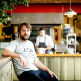 "(FILES) In this file photo taken on September 01, 2016 Danish chef Rene Redzepi, co-owner of the restaurant Noma in Copenhagen, Denmark, poses for a photograph prior to a premiere of ""Ants on a Shrimp"" in Amsterdam. - Long known for their hearty meat-and-potatoes fare, Danish chefs have now carved out a name for themselves in the culinary world with trailblazing dishes at star-studded restaurants. (Photo by Robin van Lonkhuijsen / ANP / AFP) / Netherlands OUT"