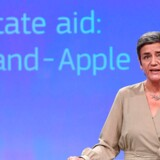 (FILES) In this file photo taken on October 04, 2017 EU Commissioner for Competition Margrethe Vestager addresses a press conference on two state aid cases at the European Commission in Brussels. - Apple embarks on an epic court battle with the EU on September 17, 2019, fighting the commission's landmark order that the iPhone-maker reimburse Ireland 13 billion euros (USD 14 billion) in back taxes. (Photo by EMMANUEL DUNAND / AFP)