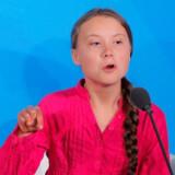 Greta Thunberg holdt tårevædede og passioneret tale mandag foran verdens ledere. Lucas Jackson/Reuters