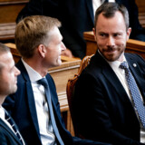 Venstres Jakob Ellemann-Jensen til Folketingets åbning på Christiansborg, tirsdag den 1. oktober 2019.