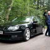 Geoff Segal kører i dag i en Saab, som han især er glad for om vinteren.