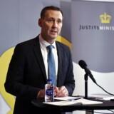 Justitsminister Nick Hækkerup holder pressemøde om myndighedernes redegørelser i teledatasagen i Justitsministeriet.