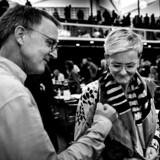 Danmarks Lærerforenings kongres, hvor blandt andre børne- og undervisningsminister Pernille Rosenkrantz-Theil (S) taler. Her er hun sammen med formanden for Danmarks Lærerforening, Anders Bondo Christensen.