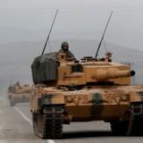 Arkivfoto. Tyrkiske soldater nær den Syriske-Tyrkiske grænse.