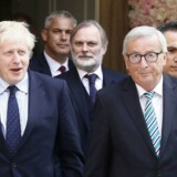 Arkivfoto. Boris Johnson og Jean-Claude Juncker.