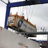 Danske DFDS er et af de største rederier, der besejler de britiske havne. Foto: Lindsey Parnaby/AFP/Ritzau Scanpix
