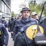 Arkivfoto. Rasmus Paludan forlader sin demonstration i Fælledparken i København.