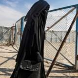 En kvinde fotograferet 17. oktober i den kurdisk-kontrollerede lejr al-Hol for familier fra de sidste områder, Islamisk Stat kontrollerede, før terrorbevægelsen blev løbet over ende af koalitionen mod Islamisk Stat og ikke mindst de kurdiske YPG/J-styrker. Ifølge Berlingskes oplysninger har der i lejren al-Hol siddet flere kvinder og børn med tilknytning til Danmark.