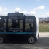 Selvkørende biler som denne bus fra DTU i Lyngby er en af de muligheder, som den lynhurtige 5G-teknologi kan bruges til. Arkivfoto: Mads Joakim Rimer Rasmussen, Ritzau Scanpix