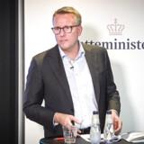 Skatteminister Morten Bødskov (S) gennemgik på et pressemøde onsdag det eftersyn, der har skullet udpege skattevæsenets mest akutte problemer.