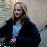 Emilie og Britt Jørgensen. Emilie skiftede i august til privatskole fra folkeskole.