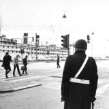 Arkivfoto. Hotelskibet Saint Lawrence lå til kaj ved Kalvebod Brygge i København. Det husede flygtede polske jøder.