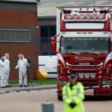 Samtlige 39 personer i containeren var døde, da politiet standsede lastbilen.