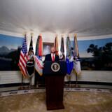Donald Trump orienterede søndag om USAs operation i Syrien, der endte med at koste Islamisk Stats leder livet.