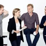 Dan Grønbech er en af fire nye værter på Radio4's morgenflade. Fra venstre ses Jacob Grosen, Stine Kromann Dragsted, Kasper Harboe og Dan Grønbech. Agnete Schlichtkrull, Radio4/Free