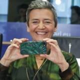 Digitaliseringen er en af de tre hovedprioriteter, som den kommende EU-Kommission har. Det område overtager Margrethe Vestager sideløbende med sit virke som – stramt håndhævende – konkurrencekommissær, og hun glæder sig til at skifte til et langt højere gear. Arkivfoto: Aris Oikonomou, AFP/Ritzau Scanpix