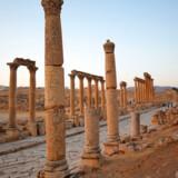 Arkivfoto. Ruinbyen Jerash nord for Amman i Jordan hvor flere er stukket ned med en kniv.