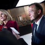 Nye tal fra Danmarks Statistik rejser spørgsmålet, om både Helle Thorning og Lars Løkke kunne være gået til valg på en stærkere økonomi. Arkivfoto: Liselotte Sabroe/Ritzau Scanpix