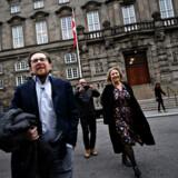 Christina Egelund og Simon Emil Ammitzbøll-Bille ved Christiansborg efter nyheden om, at de tidligere profiler for Liberal Alliance stifter partiet Fremad, torsdag den 7. november 2019.. (Foto: Philip Davali/Ritzau Scanpix)